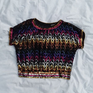 VINTAGE LADY HELENE sequin top